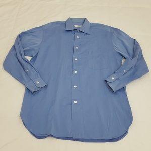 Ermenegildo Zegna Dress Shirt Mens 16.5 Light Blue